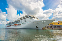 The MSC Opera cruise ship docked at the port of Havana. HAVANA,CUBA - DECEMBER 22,2015 : The MSC Opera cruise ship docked at the port of Havana showing the Royalty Free Stock Photos