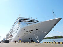 MSC Opera Cruise ship. In Klaipeda harbour, Lithuania Royalty Free Stock Images