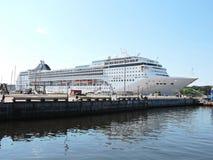 MSC Opera Cruise ship. In Klaipeda harbour, Lithuania Stock Photos