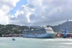 MSC Poesia Kłama Antigua Zdjęcia Royalty Free