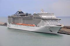 MSC Splendida. Italian cruise liner MSC Splendida docked in Chivitaveccia, Italy Stock Photos