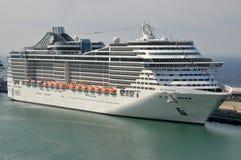 MSC Splendida. Italian cruise liner MSC Splendida docked in Civitavecchia, Italy stock photography