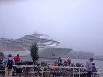 Msc van het cruiseschip splendida in Amsterdam Stock Afbeelding