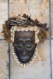 Máscara africana antigua Foto de archivo libre de regalías