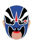 Máscara chinesa da ópera Imagem de Stock Royalty Free
