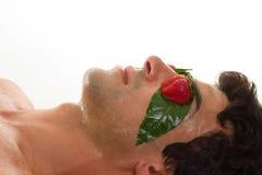 Máscara ácida de la cáscara de la fruta Imagen de archivo libre de regalías
