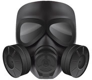 Máscara de gás preta Foto de Stock