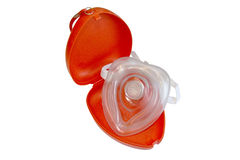 Máscara de la resucitación cardiopulmonar Foto de archivo libre de regalías