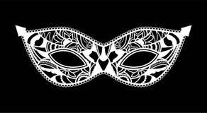 Máscara de Mardi Gras del sistema de la colección del cordón Foto de archivo