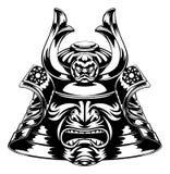 Máscara del samurai Imagen de archivo