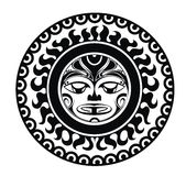 Máscara diseñada tatuaje Fotografía de archivo