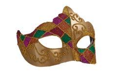 Máscara do gra do mardi do ouro Imagem de Stock