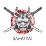 Máscara do guerreiro do samurai Imagem de Stock