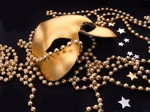 Máscara dourada Imagens de Stock
