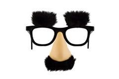 Máscara falsificada do divertimento lisolated no branco Imagem de Stock