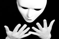 Máscara teatral branca Fotografia de Stock