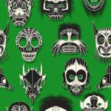 Máscara tribal inconsútil Imagen de archivo libre de regalías