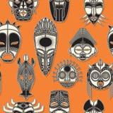 Máscara tribal inconsútil Imagen de archivo