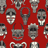 Máscara tribal sem emenda Imagem de Stock Royalty Free
