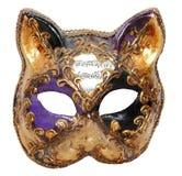Máscara Venecia del gato Foto de archivo libre de regalías
