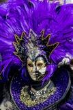 Máscara veneciana tradicional del carnaval Fotografía de archivo
