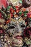 Máscara veneciana tradicional del carnaval Imágenes de archivo libres de regalías
