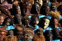 Máscaras africanas Fotografía de archivo libre de regalías