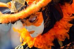 Máscaras artísticas coloridas en el carnaval Imágenes de archivo libres de regalías