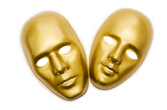 Máscaras brillantes aisladas Imagen de archivo libre de regalías