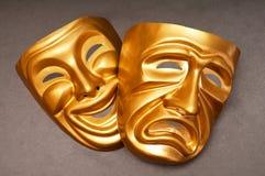Máscaras con el concepto del teatro Fotos de archivo libres de regalías