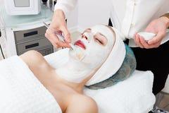 Máscaras cosméticas Imágenes de archivo libres de regalías