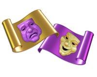 Máscaras da comédia e da tragédia Foto de Stock