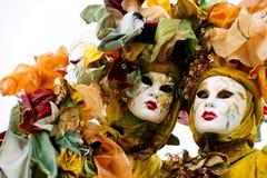 Máscaras de Venecia, carnaval. Foto de archivo