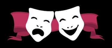 Máscaras del teatro Imágenes de archivo libres de regalías