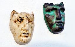 Máscaras gregas Imagens de Stock