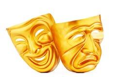 Máscaras - o conceito do teatro Imagens de Stock