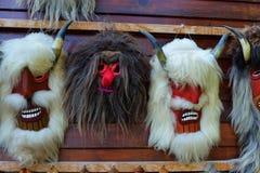 Máscaras romenas tradicionais Fotografia de Stock Royalty Free
