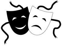Máscaras teatrais Fotografia de Stock