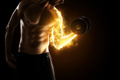 Músculos ardentes Foto de Stock Royalty Free