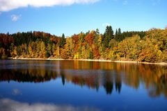 Mseno reservoir in autumn Stock Image