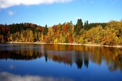 Mseno reservoir in autumn. Jablonec nad Nisou Stock Image