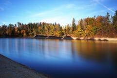 Mseno Reservoir in autumn, Jablonec nad Nisou. Autumn colours at Mseno Reservoir in Jablonec nad Nisou Royalty Free Stock Photo