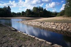 Mseno Reservoir, Jablonec nad Nisou. A Lucanska Nisa tributary to Mseno Reservoir, Jablonec nad Nisou Royalty Free Stock Photography
