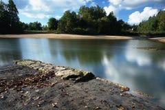 Mseno Reservoir, Jablonec nad Nisou. A part of city water reservoir in Jablonec nad Nisou Royalty Free Stock Photography