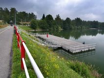 Mseno sjö, Jablonec nad Nisou, Tjeckien Royaltyfria Foton
