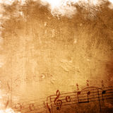 Música abstrata da melodia do grunge Imagem de Stock