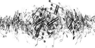 A música abstrata nota o fundo Imagem de Stock Royalty Free
