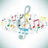 A música anota o fundo Fotografia de Stock