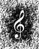 A música anota o poster Foto de Stock Royalty Free