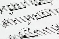 Música de hoja Fotografía de archivo libre de regalías